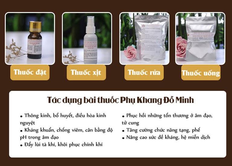 Liệu trình thuốc Phụ Khang Đỗ Minh mang lại hiệu quả điều trị bệnh phụ khoa chuyên sâu tận gốc rễ