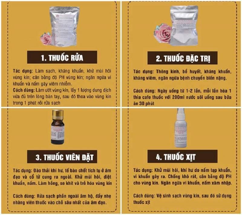 Bài thuốc Phụ Khang Đỗ Minh chữa viêm âm đạo triệt để nhờ cơ chế 4 tác động: uống - đặt - xịt - rửa.