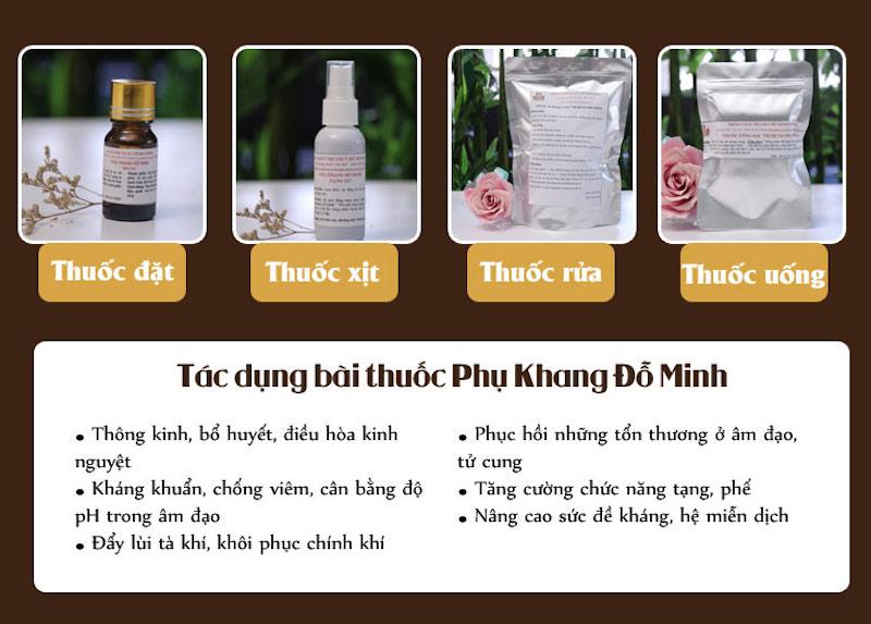 Sự kết hợp 4 phương thuốc nhỏ trong liệu trình điều trị của Phụ Khang Đỗ Minh