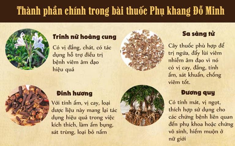Thành phần dược liệu thuần Việt góp mặt trong bài thuốc Phụ Khang Đỗ Minh chữa viêm nấm phụ khoa cho mẹ bầu