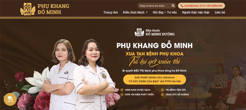 Nhà thuốc nam Đỗ Minh Đường ra mắt website phukhangdominh.com