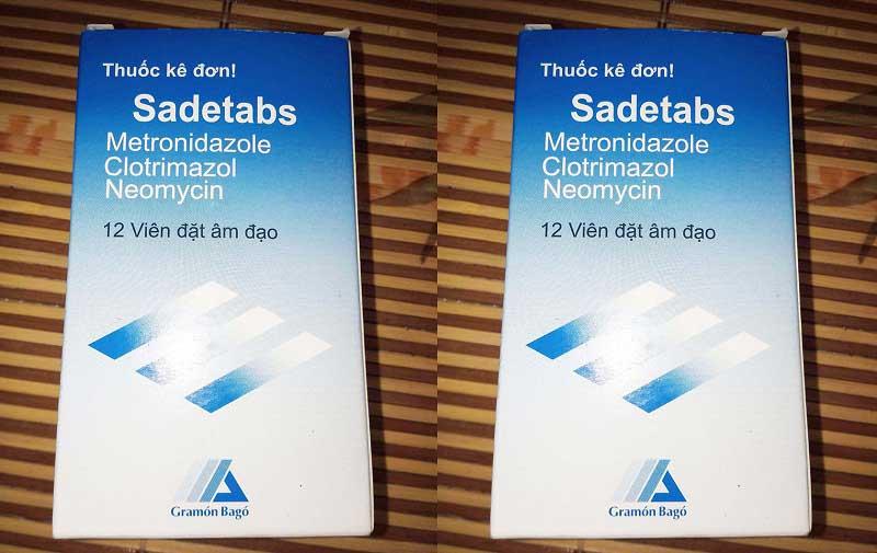 Sadetabs là thuốc kháng sinh liều cao có công dụng điều trị viêm âm đạo tại chỗ