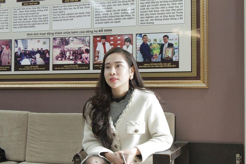 Chị Nhật đến nhà thuốc Đỗ Minh Đường khám bệnh viêm nấm âm đạo