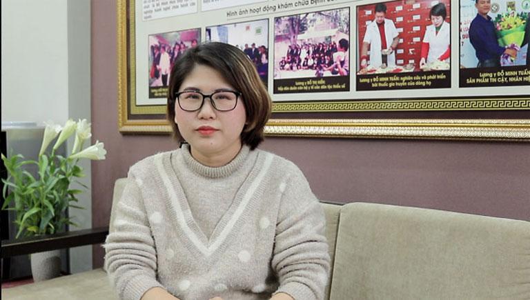Chị Thanh đến nhà thuốc Đỗ Minh Đường để điều trị viêm lộ tuyến cổ tử cung độ 3